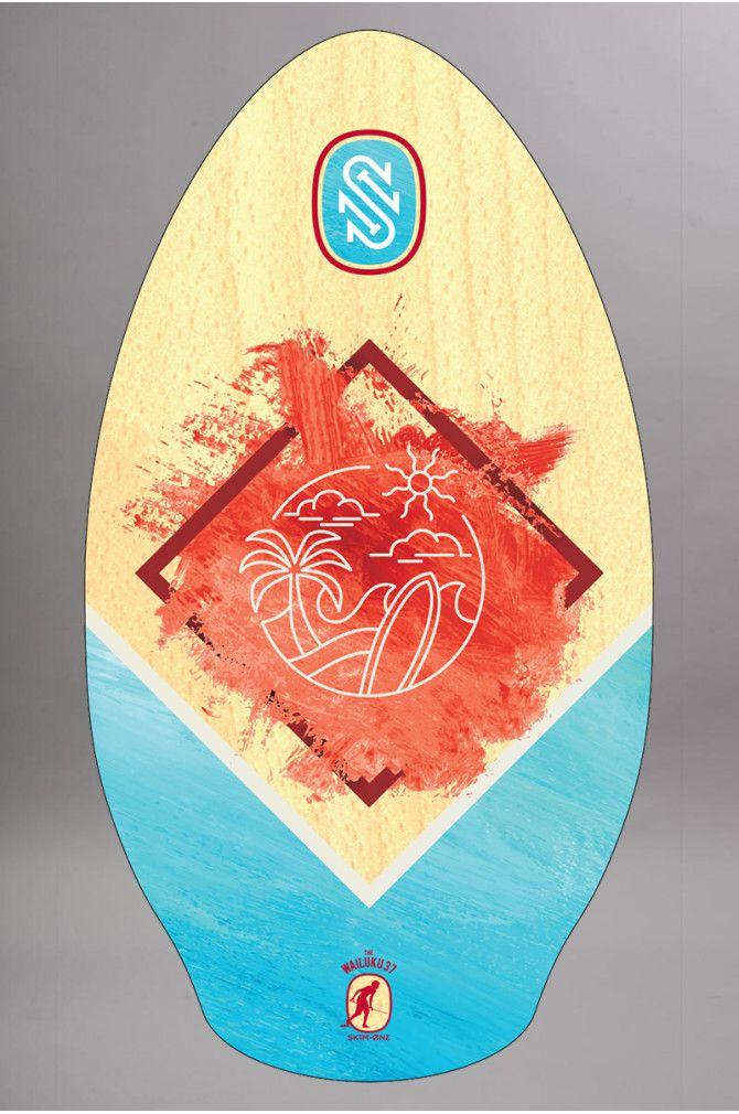 Planche de Skimboard Slidz Wood 37 wailuku red/teal