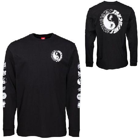 Tee Shirt ML Santa Cruz Ying Yang Black