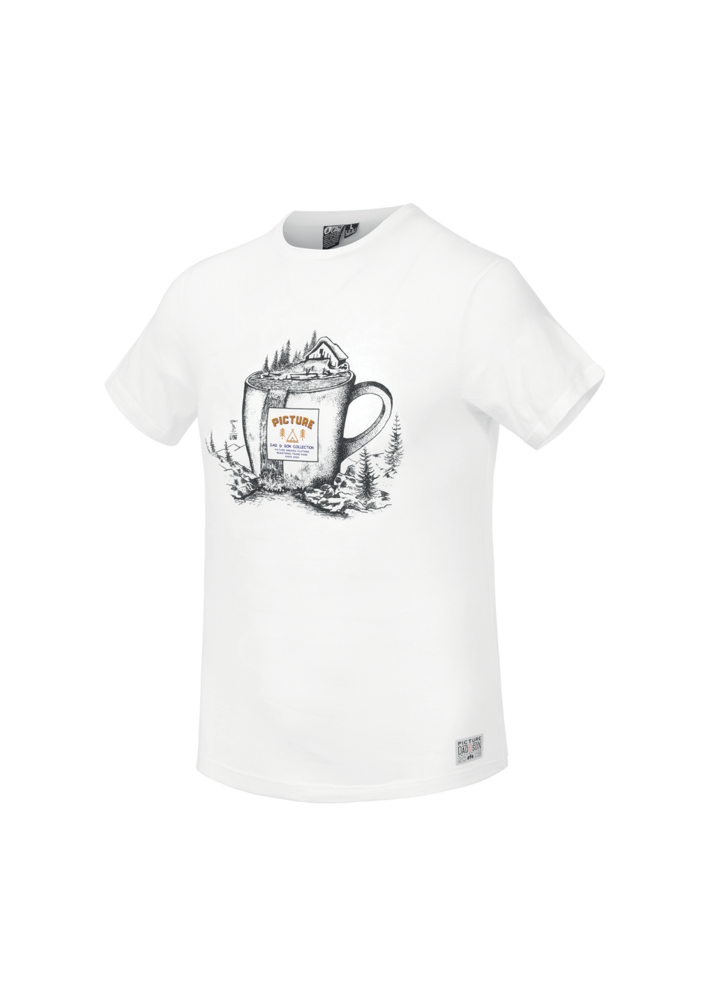 Tee Shirt Picture Cup Tee White