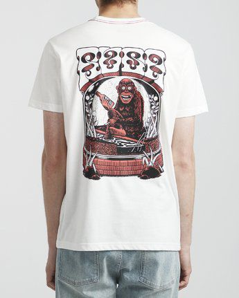 Tee Shirt RVCA Monkey Antique White