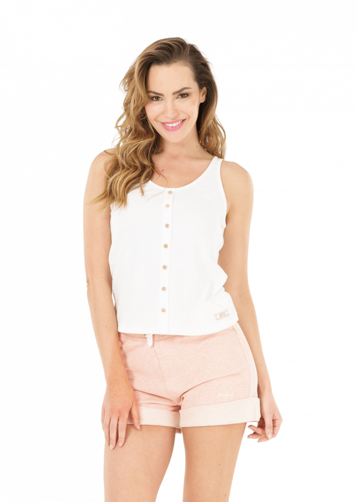 Top Femme Picture IVORY TOP White